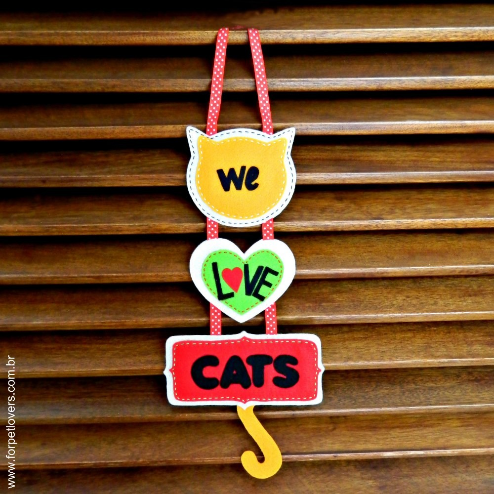 Enfeite de porta We love cats