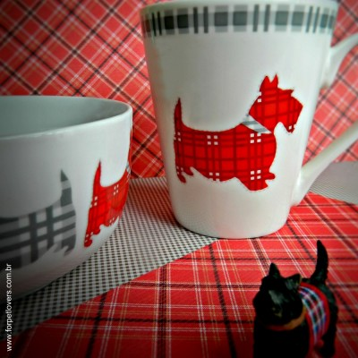 Kit para presente caneca e tigela Scottish Terrier