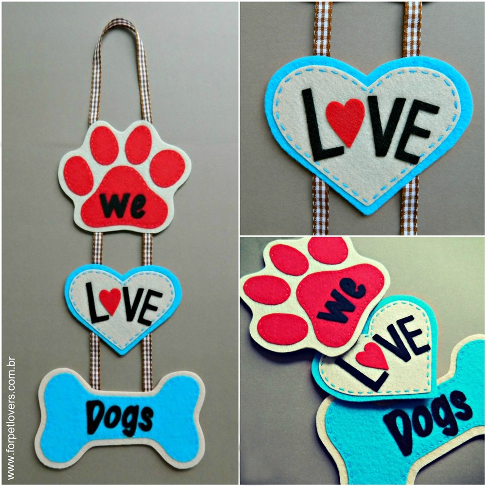 Enfeite de porta We love dogs