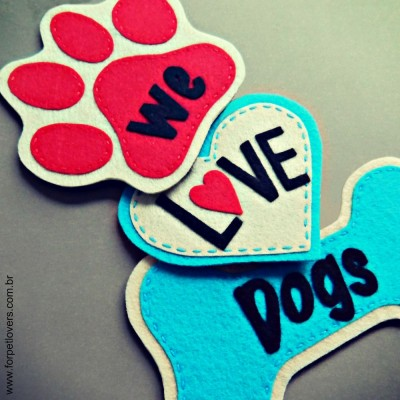 Enfeite de porta We love dogs 2