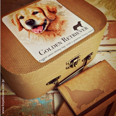 Maleta e caderno Golden Retriever