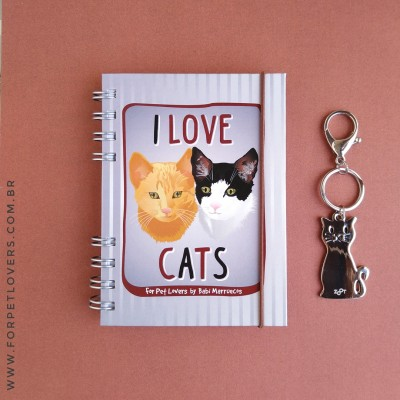 Kit para presente I love cats